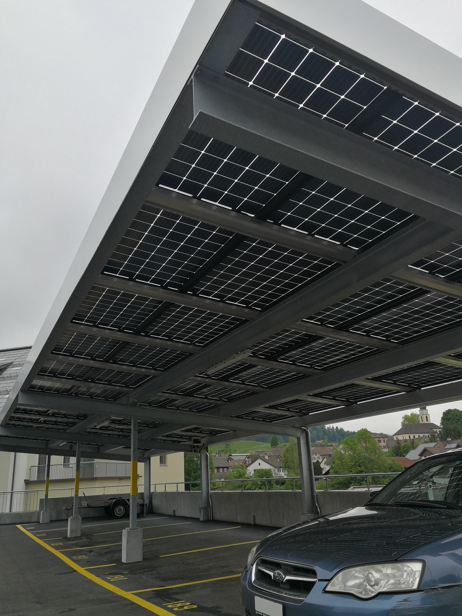 Indach Photovoltaikanlage Carport Dietfurt