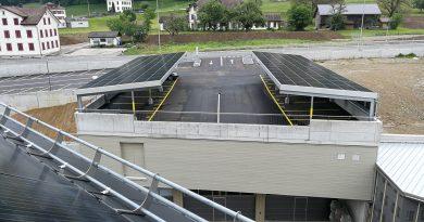 Indachanlage Carport Gewerbepark Dietfurt